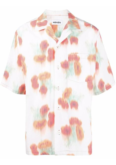 Abstract-print shirt men coquelicot KENZO | FB55CH1409S419