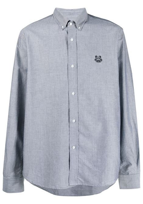 Kenzo camicia con logo uomo noir KENZO | Camicie | FB55CH4001LD99
