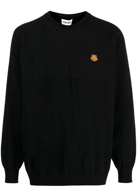 Kenzo maglione con logo uomo noir KENZO | Maglie | FB55PU5803TB99