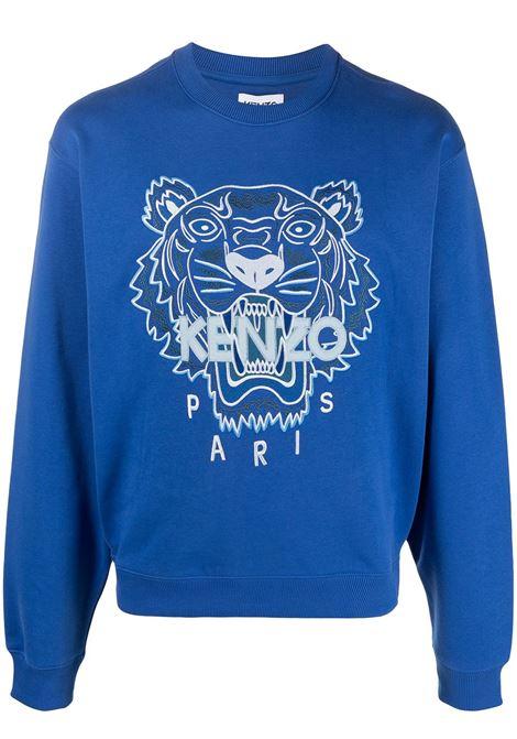 Kenzo felpa tiger uomo bleu roi KENZO | Felpe | FB55SW1104XA71