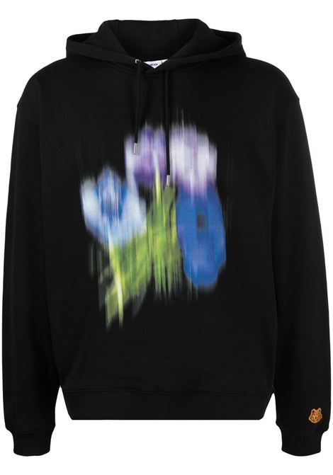 Kenzo abstract-print sweatshirt men noir KENZO | FB55SW5414MO99