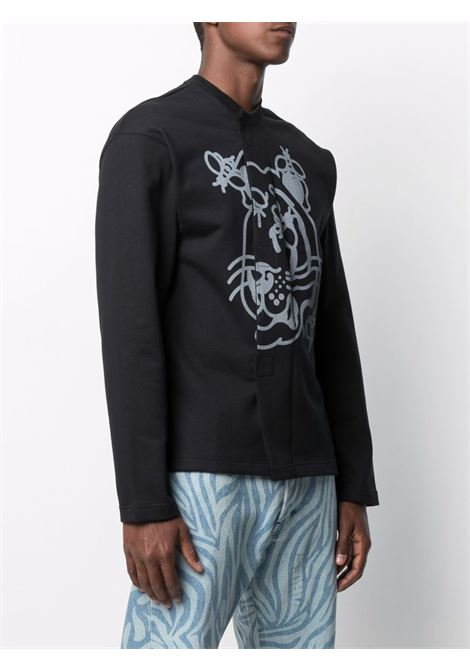 Long sleeve sweatshirt with tiger print black- men KENZO | FB55SW5514MT99