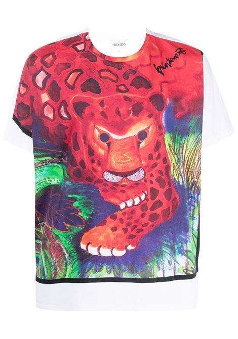 Kenzo t-shirt con stampa uomo blanc KENZO | T-shirt | FB55TS0704SJ01