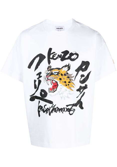 Kenzo t-shirt x kansai yamamoto uomo blanc KENZO | T-shirt | FB55TS0724SK01