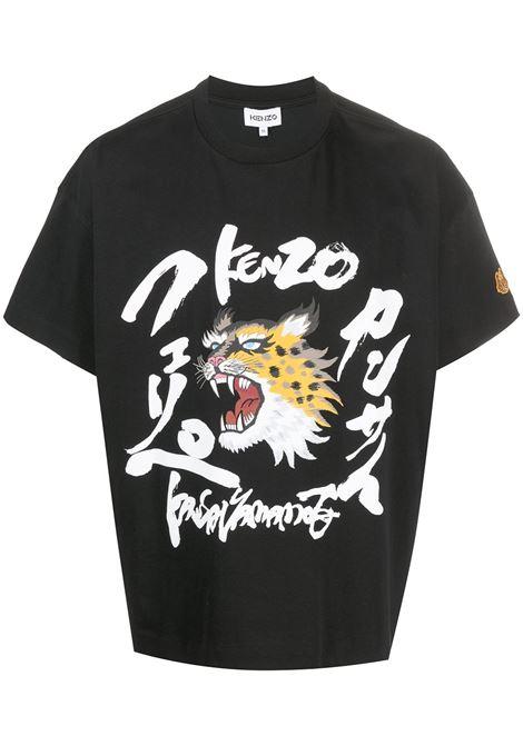 Kenzo t-shirt x kansai yamamoto uomo noir KENZO | T-shirt | FB55TS0724SK99