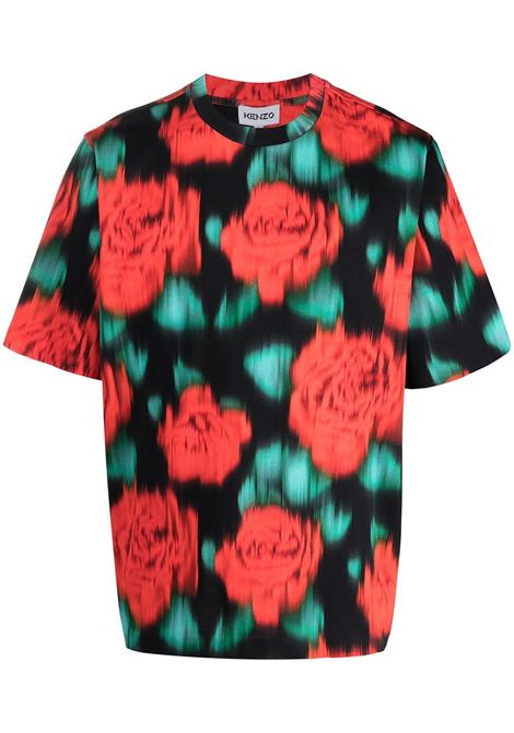 Kenzo t-shirt a fiori uomo cerise KENZO | T-shirt | FB55TS0824SI22