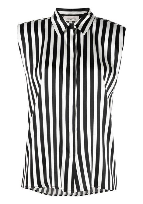 Laneus striped sleeveless shirt women unica LANEUS | Shirts | 6948U