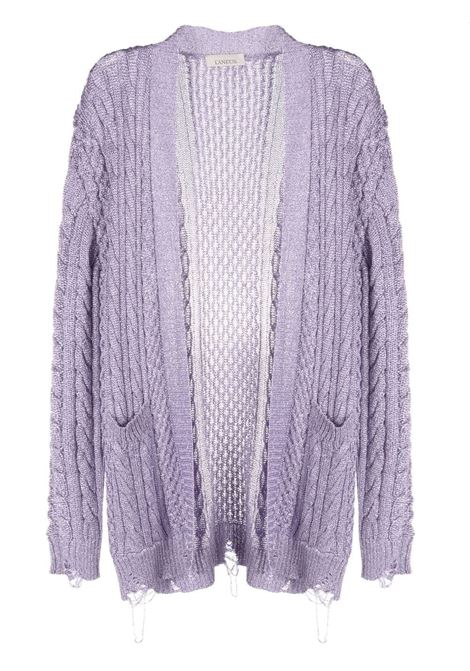 Laneus metallic cardigan women lilla LANEUS | Sweaters | CDD538LL