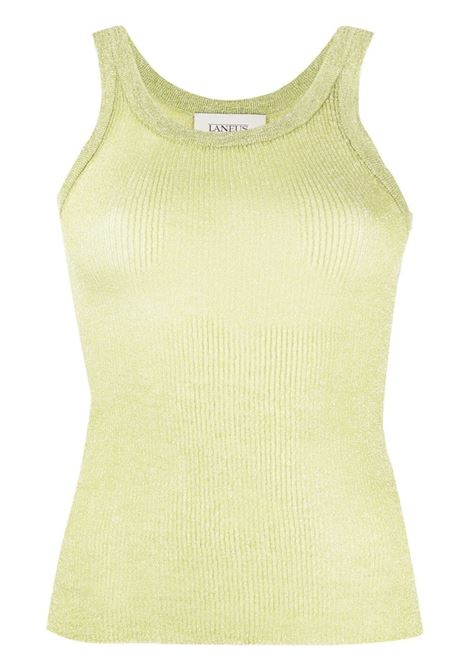 Laneus ribbed top women lime LANEUS | Top | CND160412870