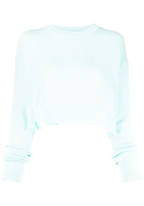 Laneus cropped jumper women acqua LANEUS | Sweaters | MGD1446M1099