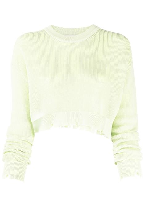 Laneus cropped jumper women lime LANEUS | Sweaters | MGD1446M1106