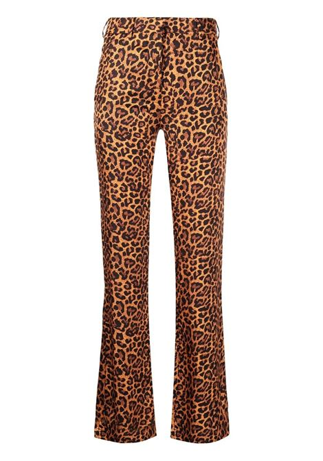 Laneus bootcut trousers women arancio LANEUS   Trousers   PND0031