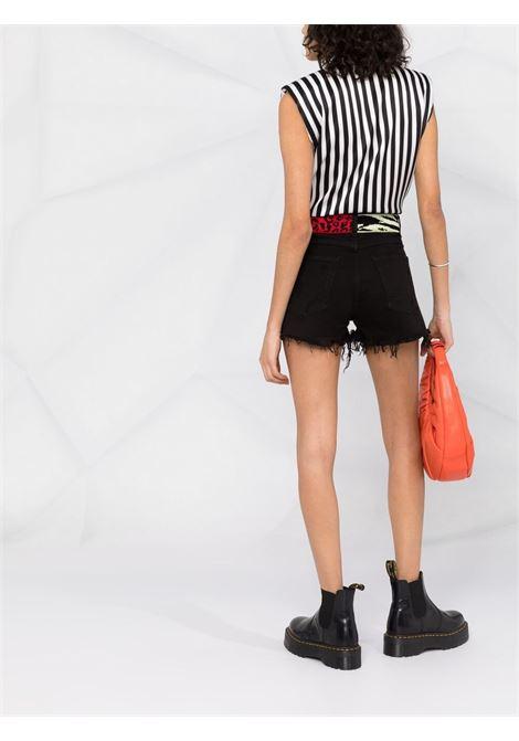 Laneus knit-panelled shorts women nero LANEUS | SHD13NR