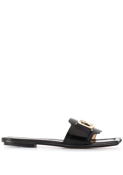 Square toe sandals LANVIN | Slides | FWSAPS0JNAGO10