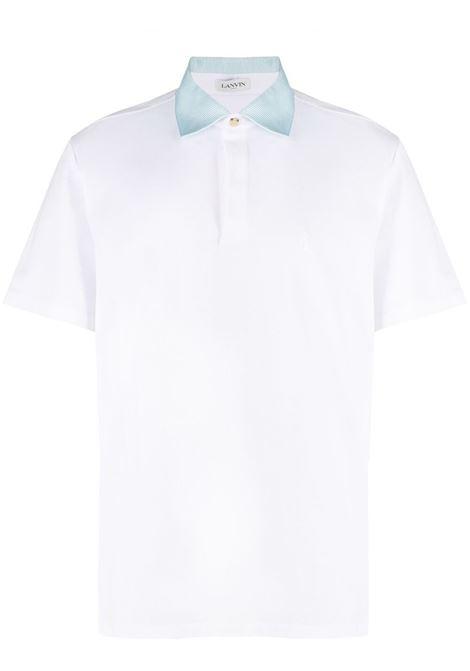 Polo con logo Uomo LANVIN | Polo | RMPL0002J03001