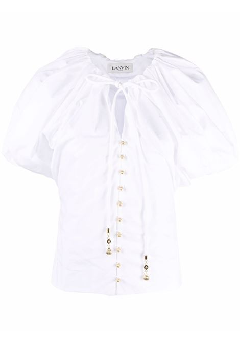 Puff-sleeve blouse women white LANVIN | Blouses | RWTO0010440800