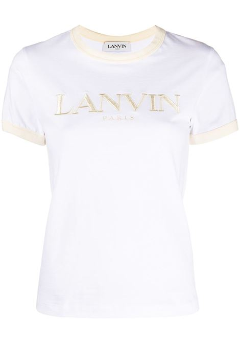 Lanvin t-shirt con logo donna optic white cream LANVIN | Top | RWTO688JJR54B005