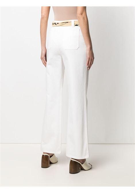 Flared jeans women optic white LANVIN | RWTR0023D00101