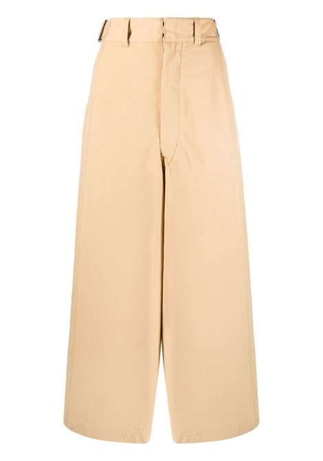 Lemaire wide-leg trousers women seashell begie LEMAIRE | Trousers | W211PA402LF575208