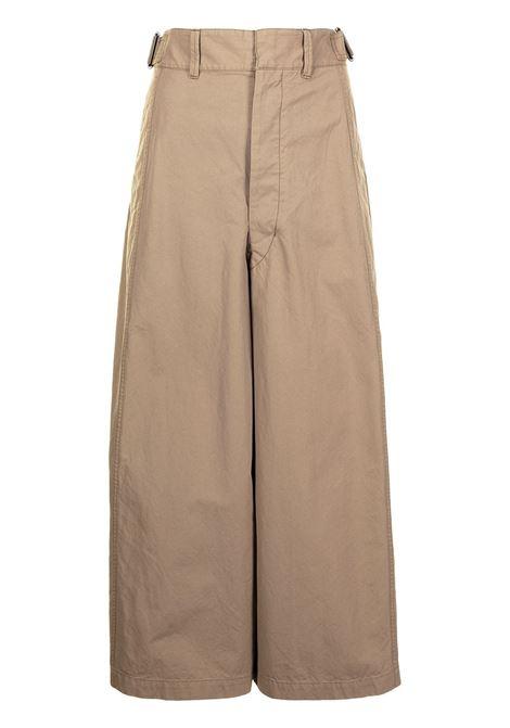 Lemaire pantaloni a gamba ampia donna dark beige LEMAIRE | Pantaloni | W211PA402LF575291