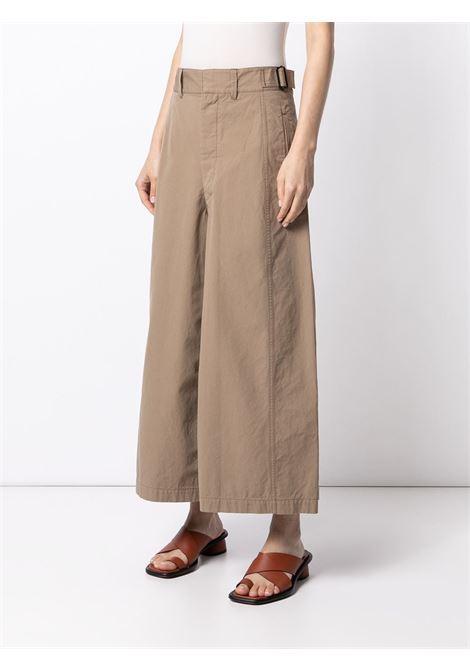Lemaire wide-leg trousers women dark beige LEMAIRE | W211PA402LF575291