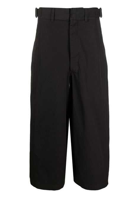 Lemaire pantaloni crop donna black LEMAIRE | Pantaloni | W211PA402LF575999