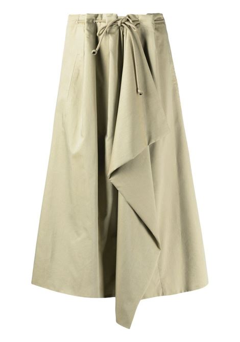 Lemaire high-waisted midi skirt women dusty sage LEMAIRE | Skirts | W211SK268LF586602