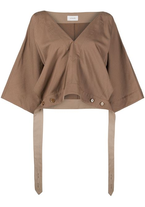 Lemaire top verause donna hazelnut brown LEMAIRE | Top | W211TO296LF546431