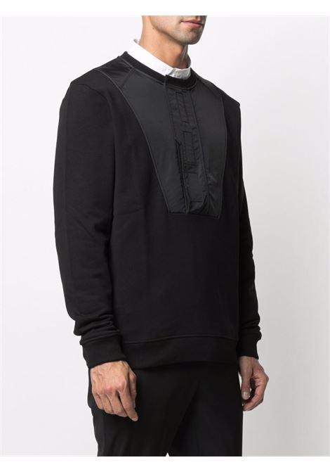 Felpa con design a pannelli uomo black LES HOMMES   LKH105756A9000