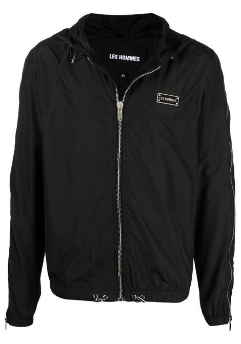 Les homes logo jacket men black LES HOMMES | Outerwear | LKO312250U9000