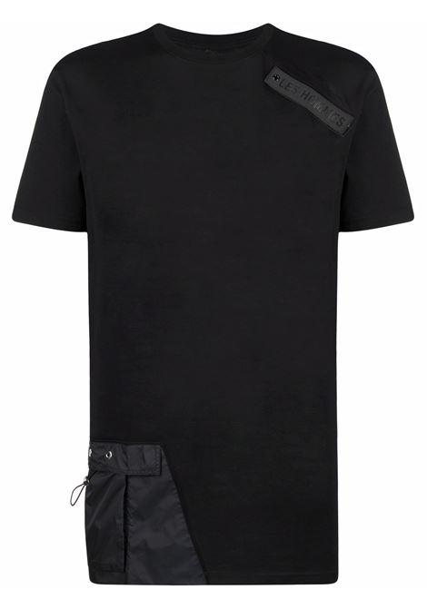 T-shirt con applicazione uomo black LES HOMMES   LKT152703A9000