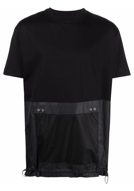 T-shirt con applicazione uomo black LES HOMMES   LKT154700A9000