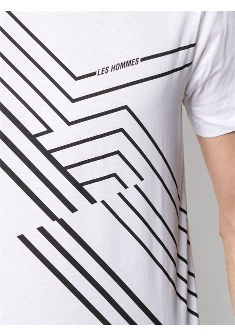T-shirt con stampa Uomo LES HOMMES   LKT218700P1000