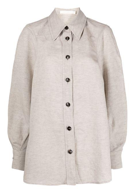 Low classic camicia con bottoni a contrasto donna beige LOW CLASSIC | Camicie | LOW21SSSH09BE