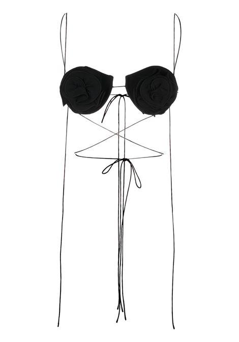 Magda butrym top con applicazioni a fiore donna black MAGDA BUTRYM | Top | 131521BLK