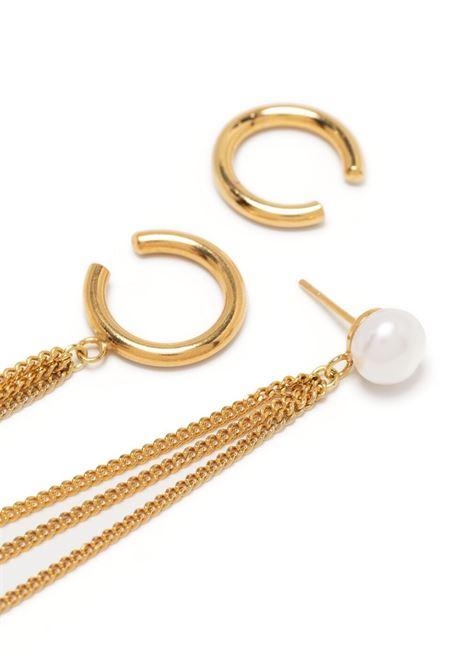 Magda butrym hoop pearl cuff earring women gold MAGDA BUTRYM   913521GLD