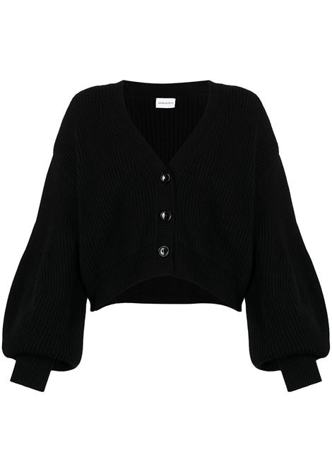 Puff-sleeve button-up cardigan MAGDA BUTRYM | Sweaters | AW20KNITWEAR02BLK