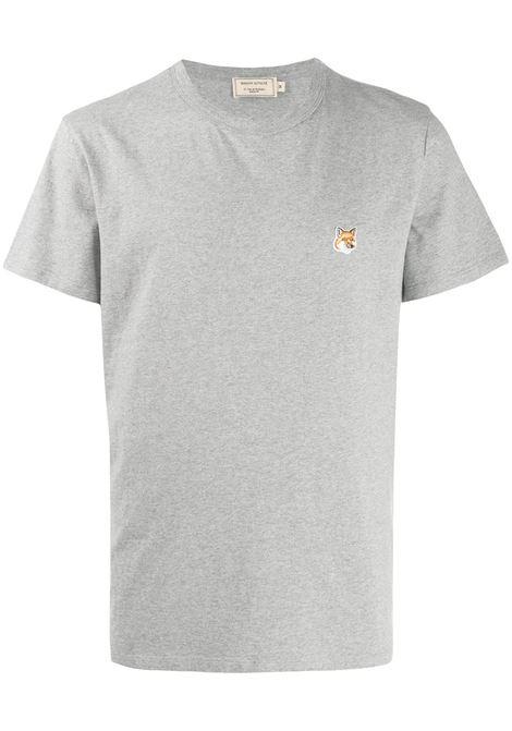 Maison Kitsuné t-shirt con logo uomo grey melange MAISON KITSUNÉ | T-shirt | AM00103KJ0008GRM