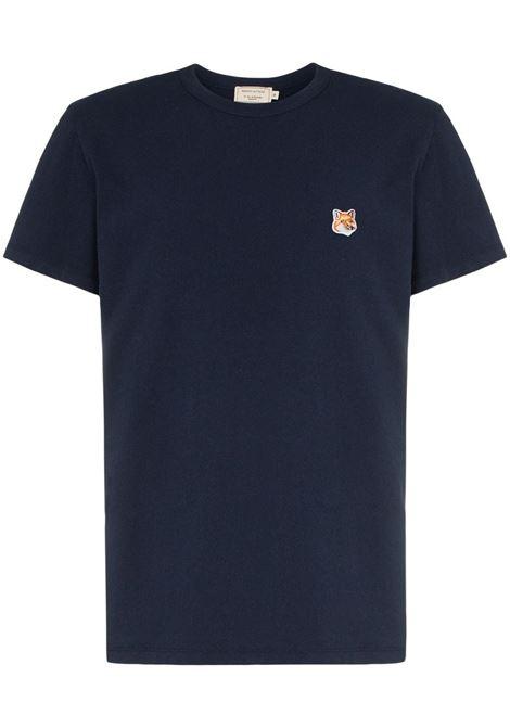 Maison Kitsuné t-shirt con logo uomo navy MAISON KITSUNÉ | T-shirt | AM00103KJ0008NA