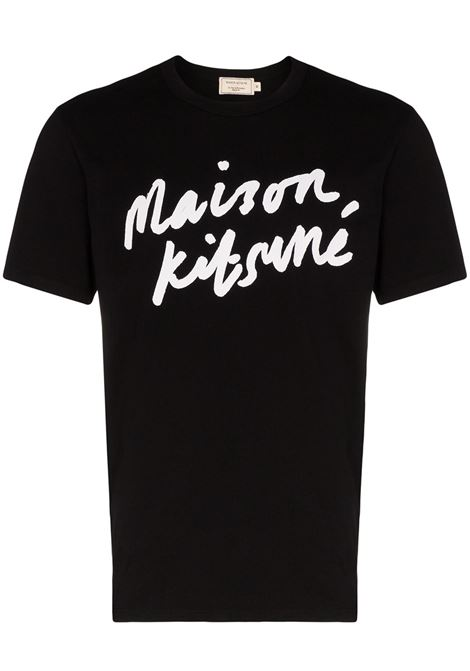 Maison Kitsuné t-shirt con logo uomo black MAISON KITSUNÉ | T-shirt | AM00104KJ0008BK