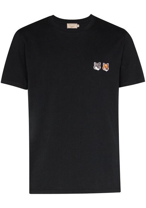 Maison Kitsuné t-shirt con applicazione uomo anthracite MAISON KITSUNÉ | T-shirt | BU00103KJ0008AN