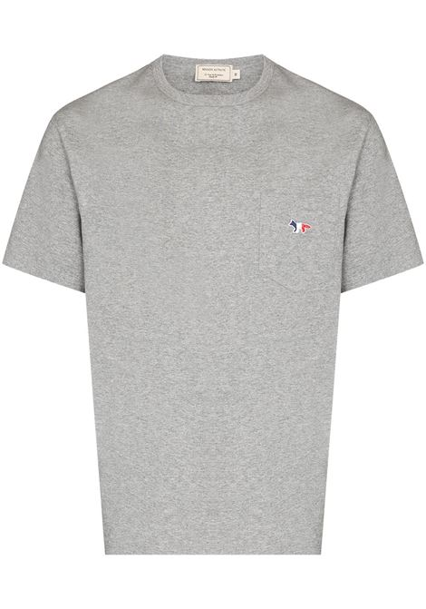 Maison Kitsuné t-shirt con taschino uomo grey melange MAISON KITSUNÉ | T-shirt | FM00120KJ0010GRM