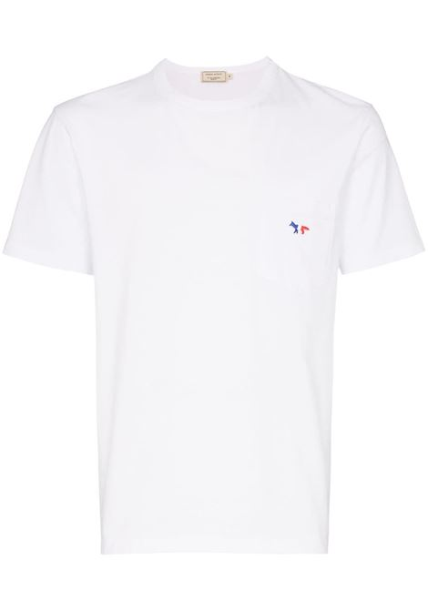 Maison Kitsuné t-shirt con logo uomo white MAISON KITSUNÉ | T-shirt | FM00120KJ0010WH
