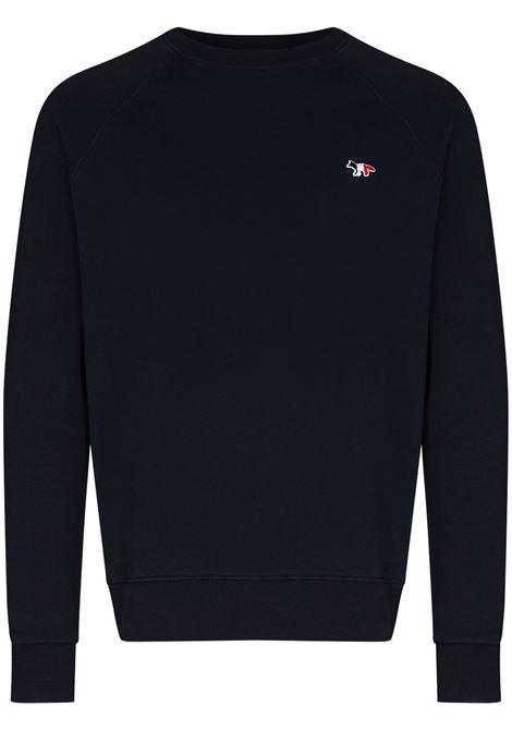 Maison Kitsuné maglione con logo uomo navy MAISON KITSUNÉ | Felpe | FM00322KM0001NA