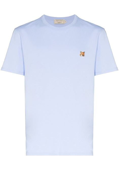 Maison kitsuné logo t-shirt men light blue MAISON KITSUNÉ | T-shirt | GM00115KJ0010LB