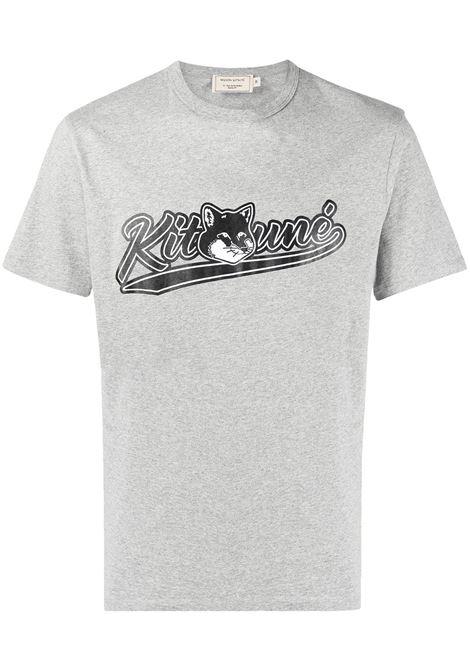 Maison Kitsuné t-shirt con logo uomo grey melange MAISON KITSUNÉ | T-shirt | GM00120KJ0010GRM