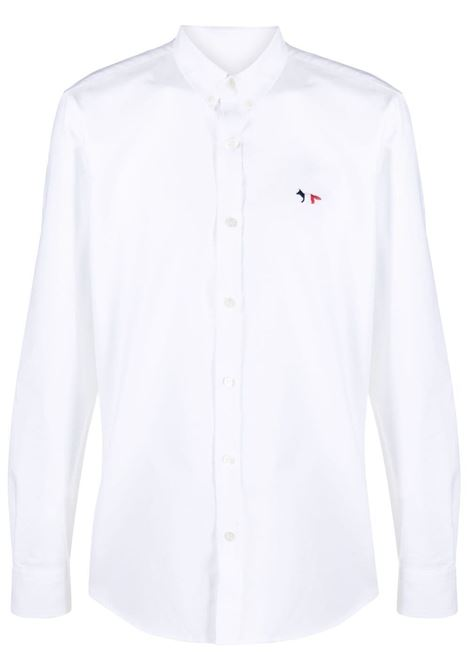 Maison kitsuné logo shirt men white MAISON KITSUNÉ | Shirts | GM00453WC2010WH