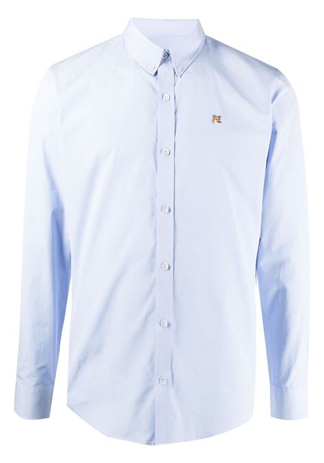 Maison kitsuné logo shirt men light blue MAISON KITSUNÉ | Shirts | GM00454WC0025LB