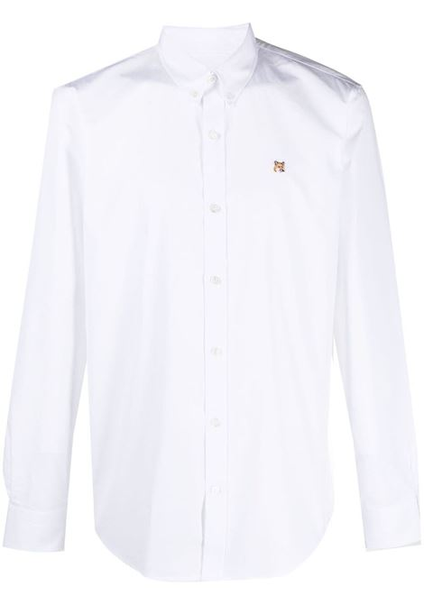 Maison kitsuné logo shirt men white MAISON KITSUNÉ | Shirts | GM00454WC0025WH