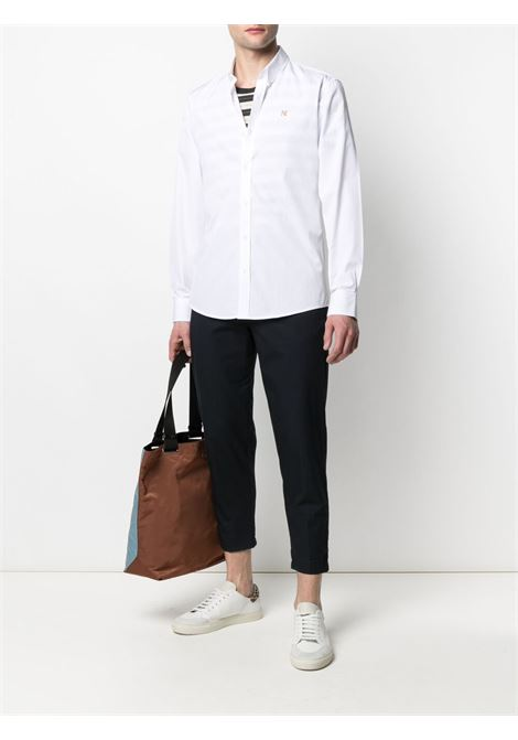 Maison kitsuné logo shirt men white MAISON KITSUNÉ | GM00454WC0025WH